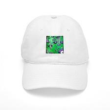 Green Fish & Bone Baseball Cap