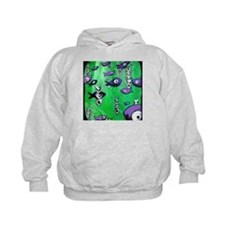 Green Fish & Bone Hoodie