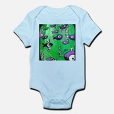 Green Fish & Bone Infant Bodysuit