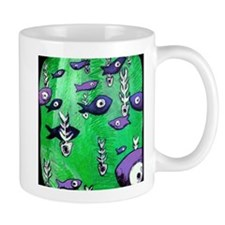 Green Fish & Bone Mug