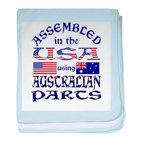 USA/Australian Parts baby blanket