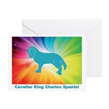 Funny Cavalier rescue usa Greeting Card