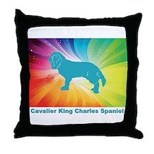 Unique Cavalier rescue usa Throw Pillow