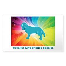 Cute Cavalier rescue usa Decal
