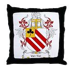 Van Tiel Coat of Arms Throw Pillow