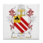 Van Tiel Coat of Arms Tile Coaster