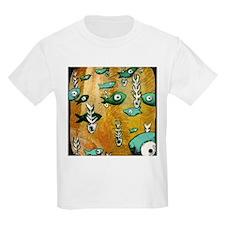 Orange Fish & Bone T-Shirt