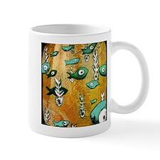 Orange Fish & Bone Mug