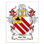 Van Tiel Coat of Arms Small Poster