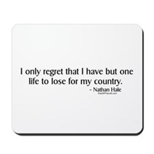 Nathan Hale: One life to lose Mousepad