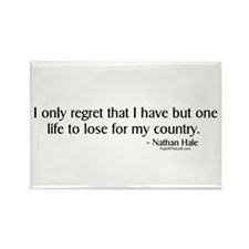 Nathan Hale: One life to lose Rectangle Magnet