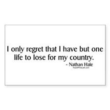 Nathan Hale: One life to lose Sticker (Rectangular
