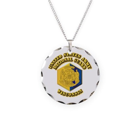 Army National Guard - Wisconsin Necklace Circle Ch