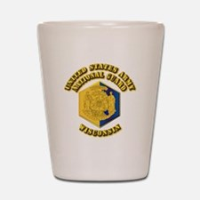 Army National Guard - Wisconsin Shot Glass