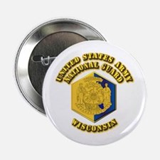 """Army National Guard - Wisconsin 2.25"""" Button (100"""