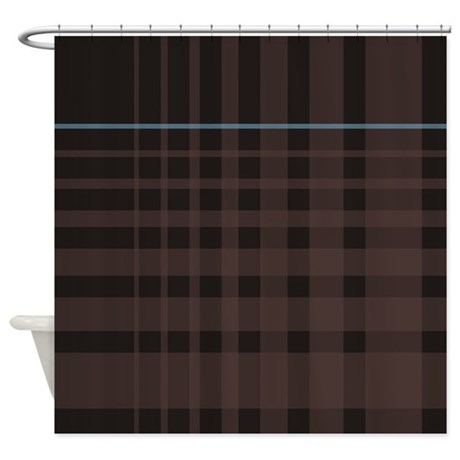 Plaid with a twist Shower Curtain