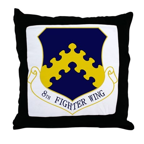 8th Fighter Wing Throw Pillow
