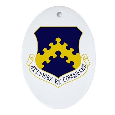 8th Fighter Wing Ornament (Oval)
