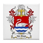 Van Sluys Coat of Arms Tile Coaster