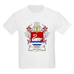 Van Sluys Coat of Arms Kids T-Shirt