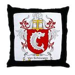 Van Schouwen Coat of Arms Throw Pillow