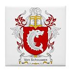 Van Schouwen Coat of Arms Tile Coaster