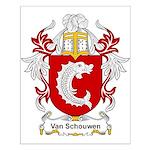 Van Schouwen Coat of Arms Small Poster