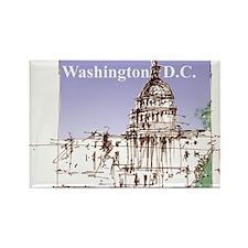 Washington DC Rectangle Magnet