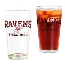 Ravens Basketball Drinking Glass