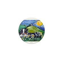 Australian Shepherd blue merl Mini Button
