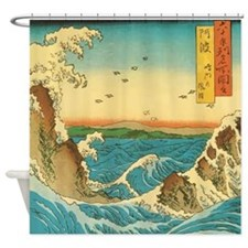 Hiroshige Navaro Rapids Shower Curtain