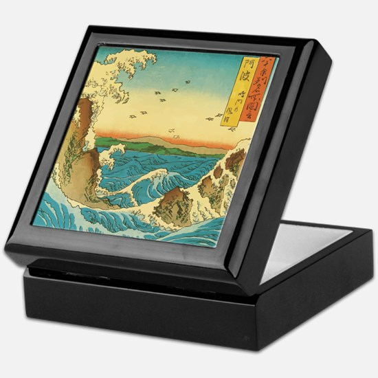 Hiroshige Navaro Rapids Keepsake Box