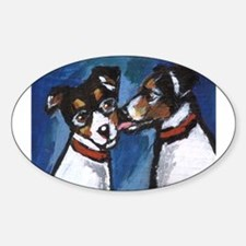 RAT TERRIER kiss Oval Decal