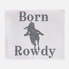 Born Rowdy Logo Throw Blanket