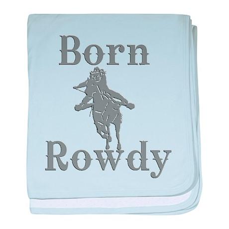 Born Rowdy Logo baby blanket