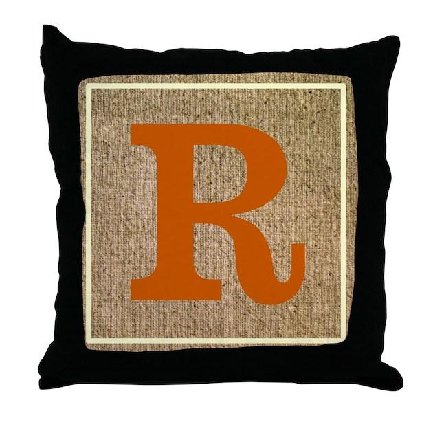 Crisp Customizable Monogrammed Throw Pillow By Motif81