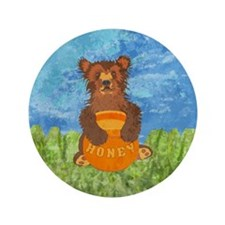 "Honey Bear 3.5"" Button"