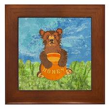 Honey Bear Framed Tile