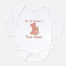 1st Birthday Princess Long Sleeve Infant Bodysuit