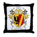 Van Schoor Coat of Arms Throw Pillow