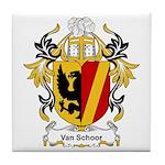 Van Schoor Coat of Arms Tile Coaster