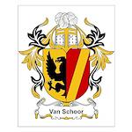 Van Schoor Coat of Arms Small Poster