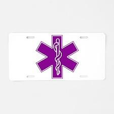 Star of Life - Purple Aluminum License Plate