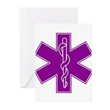 Star of Life - Purple Greeting Cards (Pk of 10)