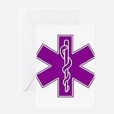 Star of Life - Purple Greeting Card