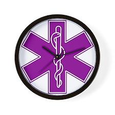 Star of Life - Purple Wall Clock