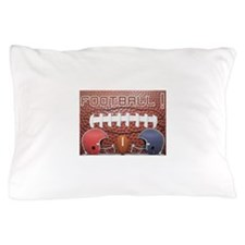Football with Helmets Pillow Case
