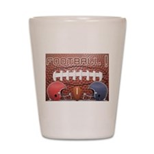 Football with Helmets Shot Glass