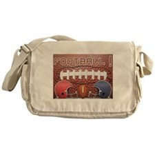 Football with Helmets Messenger Bag