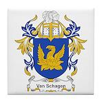 Van Schagen Coat of Arms Tile Coaster